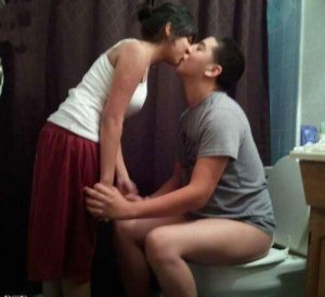 kissing on toilet bathroom weird